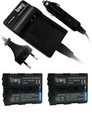 charger + 2 Troy Battery for SONY Alpha A99 A100 NPHM500H NP-FM500H