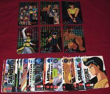 Anime Yu Yu Hakusho Bandai Carddass Part 4 Bandai 1994 Full Card Set w/ 6 Prisms