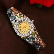 Fashion Women's Watch Crystal Rhinestone Butterfly Bracelet Quartz Wrist Watches