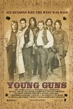 wild west vintage movie poster YOUNG GUNS kiefer SUTHERLAND collectors 24X36