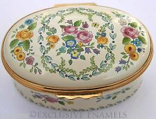 Halcyon Days Enamels Garlands & Flowers Enamel Box