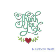 Sizzix Thinlits Die Set 3PK - Phrase, Thank You with Hearts