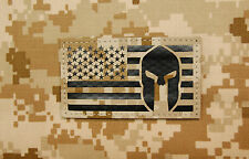 Infrared AOR1 NWU II US Spartan Helmet Flag Patch IR US Navy SEAL Molon Labe