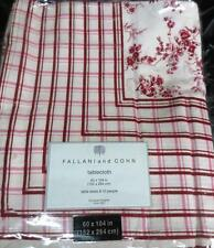 New Fallani & Cohn Leia 60 x 104 inches  red & white stripes flowers tablecloth