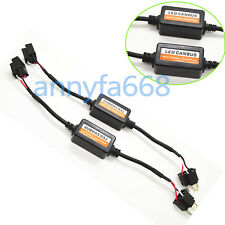 2x H4H/L LED Headlight Canbus Error Free Anti Flicker Resistor Canceller Decoder