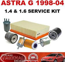 Astra G MK4 Kit de servicio 1.4 1.6 8V 16V Z16SE Z16XE Filtro De Combustible Aire Aceite Gasolina