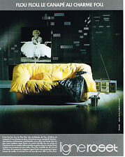 PUBLICITE ADVERTISING  1986   LIGNE ROSET canapé  MARILYN MONROE          070513