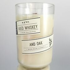 Aged Whiskey and Oak Scented Candle Wood Wick Makers of Wax Goods