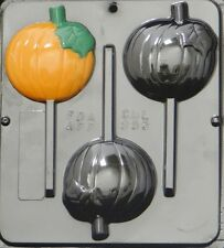 "Pumpkin Lollipop 3"" x 3 1/4"" Chocolate Candy Mold Halloween  955 NEW"