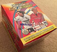 2000 MERLIN PREMIER GOLD EPL LEAGUE SOCCER FACTORY BOX - 36 PACKS DIE-CUTS/FOIL