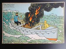 RARE ancienne Image puzzle Cube Dubreucq Tintin Crabe aux pinces d'or  ETAT NEUF
