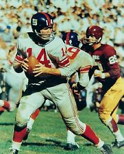 Y.A. TITTLE 8X10 PHOTO NEW YORK GIANTS NY NFL FOOTBALL VS REDSKINS