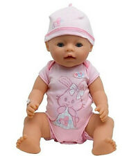 pink doll jumpsuit clothes Wear fit for43cm Baby Born zapf(only sell cloth b593