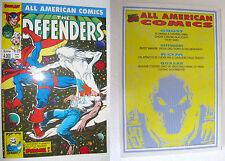 ALL AMERICAN COMICS # 32 Aprile 1992 Comic Art ORIGINALE PRIMA EDIZ. NUOVO RARO