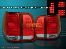 03 04 05 06 LINCOLN NAVIGATOR RED / CLEAR LED TAIL LIGHTS 4 PIECES SET
