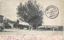 9738) BOLOGNA STAZIONE FERROVIARIA A PORTA MAZZINI VIAGGIATA NEL 1910.