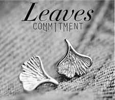 9mm Ginkgo leaf 925 Sterling Silver Stud Earring Fine Jewelry For Girls Women