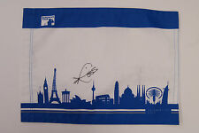Ross FISHER SIGNED AFTAL COA Autograph European Tour Golf Flag Race to Dubai