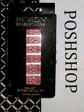 REVLON by MARCHESA 3D JEWELED NAIL APPLIQUES EVENING GARNET