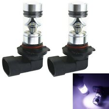 2 x 9005 HB3 H10 6000K 100W LED Cree Projector Fog Driving Light Bulb Pure White