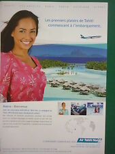 2011 PUB AIR TAHITI NUI TIARE PACIFIQUE VAHINE AIRBUS A340-300 AIRLINE FRENCH AD