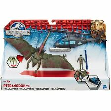 NEW Jurassic Park World Helicopter Vehicle & Petranodon Action Figure Dinosaur