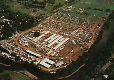 Walton, New York, Aerial View of Delaware County Fair Grounds + River - Postcard