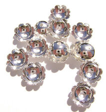 5973FN Bead Cap Silver p Brass 6mm Scalloped Round Flower for 6-8mm bead 100 Qty