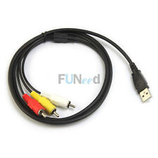 USB A Male to 3 RCA Video 2 Audio Data Cable cord 1.5M