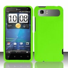 Hard Rubberized Case for HTC Vivid - Green
