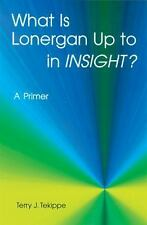 """What is Lonergan Up to in """"Insight""""?: A Primer Zacchaeus Studies: Theology)"""