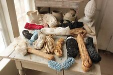 Vintage / Antique French HAT STRAW LACE trim edging MILLINERY LOT 178 YARDS