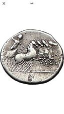 Roman Republic Anonymous 86 B.C Apollo & Zeus Horse Ancient Silver Coin.