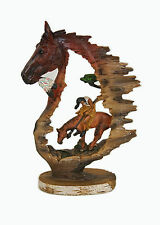 Native American and Horse Statue Figurine