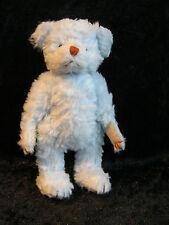 Wunderschöner Miniatur Teddy, weich gestopft hellblau, ca. 12cm, aus Sammlung
