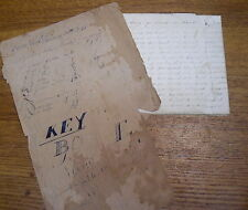 Antique 1848 School Copy Book - Filled Up - Myerstown Pennsylvania