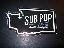 "SUB POP SEATTLE 4"" WASHINGTON STATE SEATTLE LOGO Sticker Decal pearl jam nirvana"