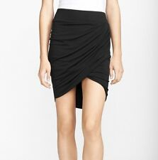 HELMUT LANG Nova Jersey Twist Draped Skirt in Black Size Small S