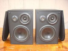 KLH 3-WAY BOOKSHELF SPEAKERS PAIR L853B EXCELLENT SOUND FOR HOME STEREO/AUDIO