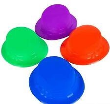 12 PLASTIC DERBY HATS Party Caps Assorted Color Mardi Gras Free Shipping New!!