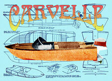 """Build model boat for 14"""" & R/c 21"""" OUTBOARD boat full size Printed PLANs & Notes"""