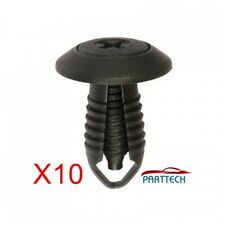UNIVERSAL PLASTIC SCREW FASTENER RIVET CLIPS x10