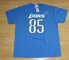 DETROIT LIONS ERIC EBRON #85 BLUE SHIRT T-SHIRT SIZE MENS XL