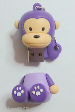Regalo Purple Monkey USB 2 Dispositivo Lápiz de memoria 4GB capacidad