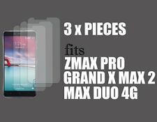 3 x PIECES of Clear Screen Protectors for ZTE ZMAX PRO / GRAND X MAX 2 / DUO 4G
