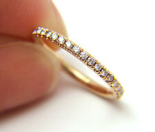 Gabriel & Co. 1/3ct Pave Diamond 18k Solid Rose Gold Eterntiy Ring Wedding Band