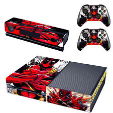 For Xbox One Console Skin Decal Sticker + 2 Controller & Skins Marvel Deadpool