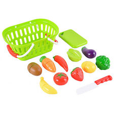 US Kids 13Pcs Kitchen Pretend Role Play Toys Cutting Fruits Vegetables Food Toy
