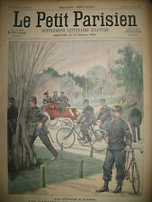 POLICE DE PARIS A BICYCLETTE ALPINS CREVASSE JOURNAL LE PETIT PARISIEN 1900