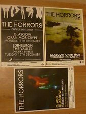 The Horrors Scottish tour concert gig posters x 3